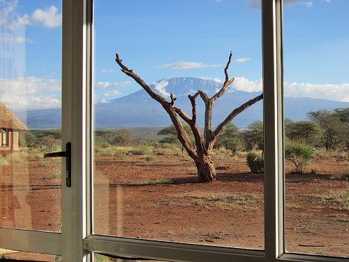View on Mount Kilimanjaro from AA Lodge Amboseli