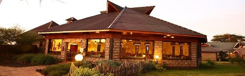 Phote of the exterior of the AA Lodge Amboseli in Amboseli National Park