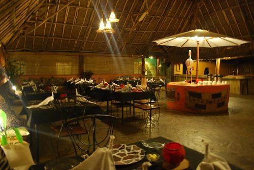 Dining room at the Flamingo Hill Camp in Lake Nakuru National Park