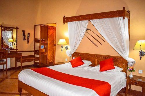 Inside view of a room at the Lake Nakuru Lodge