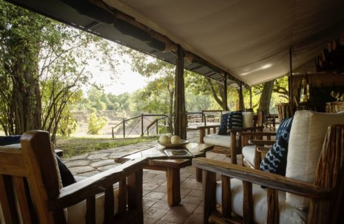View from the veranda of Governors Camp in Maasai Mara