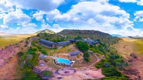 Picture of Ngulia Safari Lodge in Tsavo West taken from above