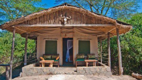 A view of a safari tent in Oloshaiki Camp Maasai Mara