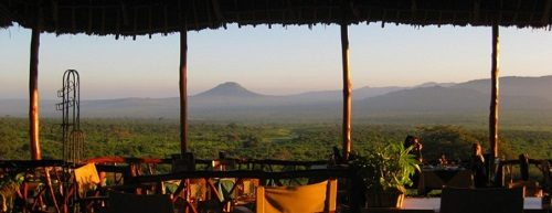 An open view of Tsavo West from the Rhino Valley Lodge