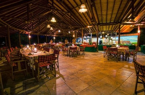 The restaurant of the Sentrim Amboseli Lodge in Amboseli National Park