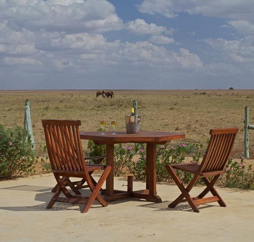 A view over Tsavo East's wide landscape