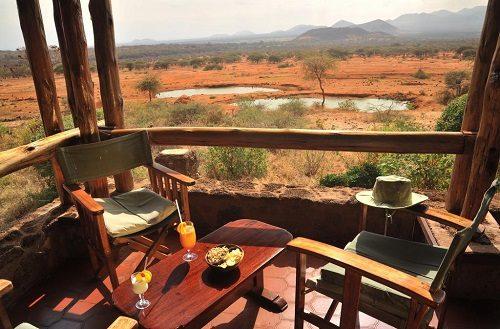 View over Tsavo West from Kilanguni Serena Lodge