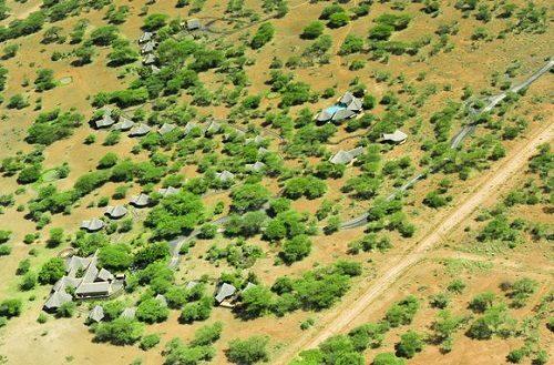 Bird perspective Tsavo West National Park and Severin Safari Camp